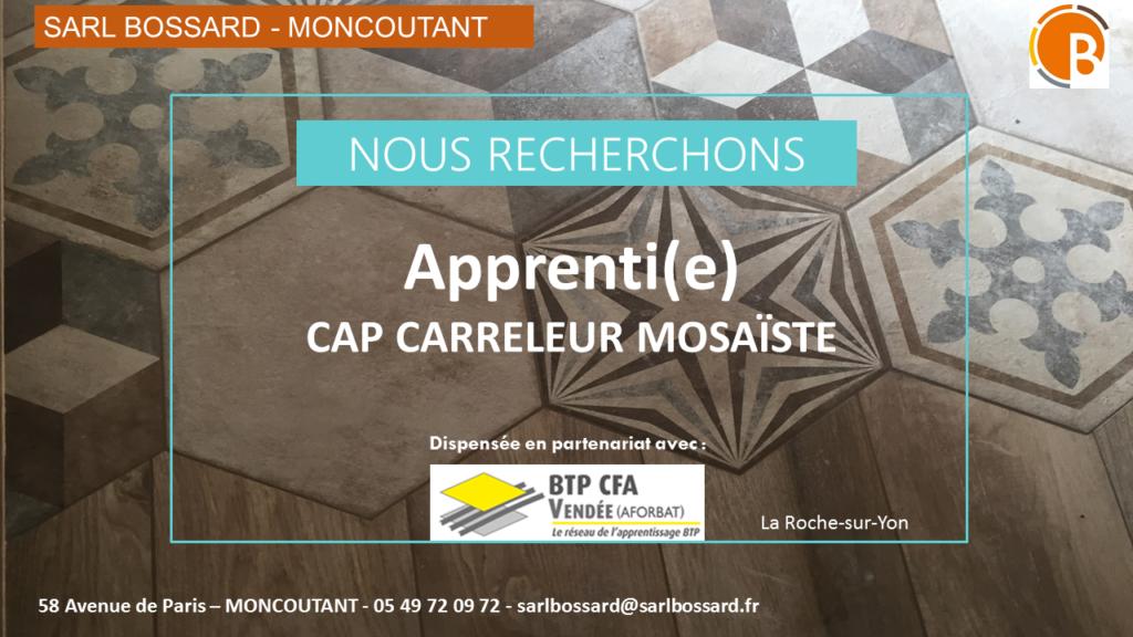 CAP CARRELEUR MOSAÏSTE MONCOUTANT