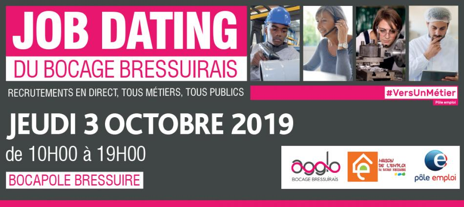 JOB DATING le 3 Octobre 2019 de 10H à 19H
